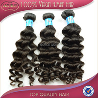 7A hair products indian virgin hair loose wave 100% human hair weave Grade unprocessed hair extension DHL FREE Shipping