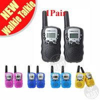 FS!  T-388 Mini Walkie Talkie UHF 462.550-467.7125MHz 0.5W 22CH For Kid Children LCD Display A0762Z  2Pcs/Set
