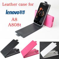 Lenovo A8 A806 Case cover  Good Quality Top Open PU Flip  case cover for Lenovo A8 A808T mobile cellphone free shipping