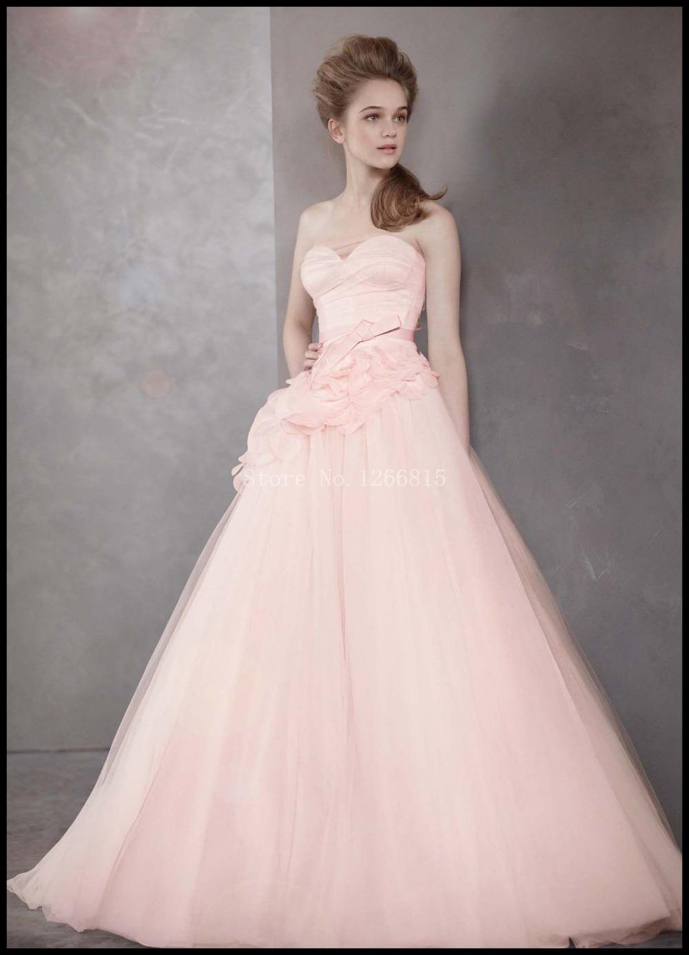Modern Wedding Dresses Backless : Pink ball gown wedding dresses sweetheart backless bridal gowns z