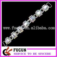 AB color diamond bikini connector,high quality rhinestone connector,free shipping fee connector for bikini