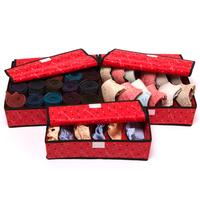 Free shipping Three-piece underwear storage box / sorting box covered bra / socks / non-woven storage box
