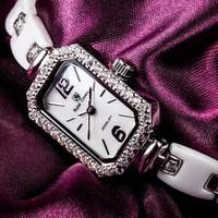 Royal Crown Brand straight  Italian Royal Crown ceramic bracelet fashion female table watch luxury incredible