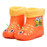 2014 Hot fashion children raining shoes winter rainboots for boys and girls All seasons children shoes Carton warm snow boot