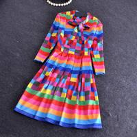 Free shipping Wholesale 2014 bronzing small fragrant peonies wind dress bottoming dress Hitz Slim
