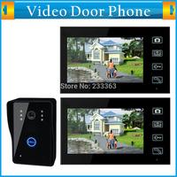 "7"" Wireless Video Door Phone Doorbell Intercom with Touch Panel Key Lock Camera (1 to 2) Home Access Security Doorbell System"