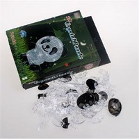 New 2014 Practical Gift for Kids Classic Toys Creative Cute Panda Shape 3D Puzzles Crystal Puzzle DIY Toy
