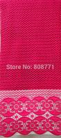 Free shipping!! Making dress 100% cotton 5yard per pcs cord lace fabric with high quality CL4071-2 fucshia