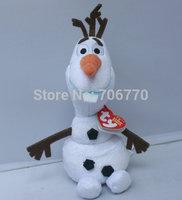 "IN HAND!!LOTS 2014 NEW by Ty Original FROM CARTOON Princess OLAF SNOWMAN 7"" 18CM STUFFED DOLL TOY MOVIE  TOY boneca pelucia"