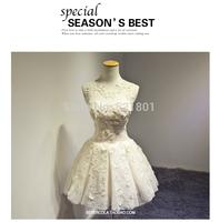 Korean version of the bride weddings toast clothing short wedding dress 2015 new flower wedding dresses vestido de noiva 435