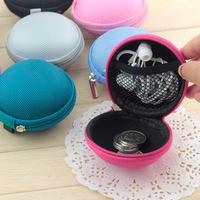 Free shipping And drop waterproof earphone headset bag zippered nylon cable box finishing box multi-purse