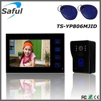 7'' color TFT-LCD indoor monitor HD night vision outdoor camera ID card door unlocking video intercom