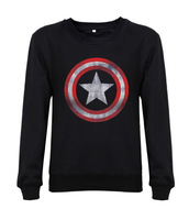 2014 new fashion men/women sweatshirts Captain America logo movie flim custom mens hoody hoddes design print fleece