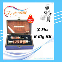 E Fire Wooden Engraved E cigarette Kits x fire Electronic cigarette starter kits 1100mah Vision Spinner battery +wooden Atomizer
