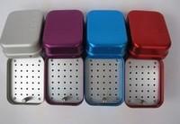 Dental materials 30 holes high temperature sterilizer box high speed bur