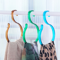 Nordic fashion Colorful transparent Hook / S type two available big hook / cupboard tie scarf plastic hooks