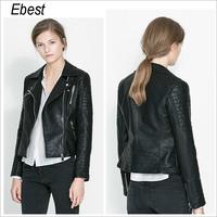 women jacket leather coat jaqueta de couro feminina jaqueta couro winter autumn clothing motorcycle casual vintage plus size
