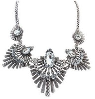 cxt909644 Statement Necklace Vintage Rhinestone Pendants Glod Sliver Chains Chokers Necklaces