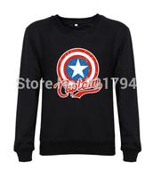 2014 top fashion women/Men custom sweatshirts Captain America design famouse flim movie print mens hoody hoddes fleece