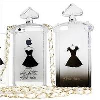 For Apple Iphone 5/5S Case Perfume Bottle Phone Case Halter Neck Shoulder Bag Crossbody TPU Phone Case  Free Shipping
