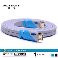 Vention High Quality Flat HDMI Cable 1M 1.4V 1080P Blue HDMI Flat Cable For Computer Android TV Box