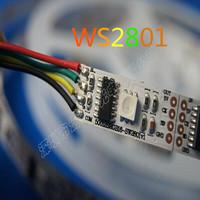 WS2801 addressable RGB LED magic dream color Strip light 32Leds/M non-Waterproof 5M 16.4F 5V WS2801