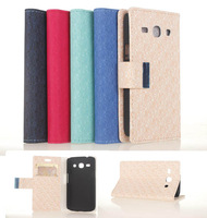 Touch Stylus+Luxury Labyrinth Wallet PU Flip Leather Phone Bag Case With Credit Card Stand For Samsung Galaxy Star Advance G350E