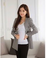 Free Shipping Womens Spring And Autumn Houndstooth Slim Fit Suit Stylish Blazers Outwear Coat S-XL [4 70-4306]