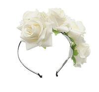 10PX Handmade Floral Crown Rose Flower Headband Hair Garland Wedding Headpiece Tiara