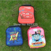 Children Bags Cars-PLEX /Cartoon Thomas /SpongeBob EVA Lunch Bags Kids Cartoon Lunch Messenger Bags Free Shipping