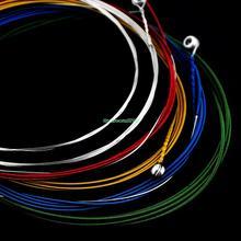 Eh0209 красочный комплект из 6 стали струны для акустической гитары 1 м(China (Mainland))