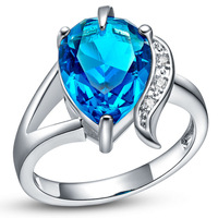 Best Quality Platinum Plated Luxury Austrian Crystals Rings,Fashion Rhinestone Rings,Wholesale Fashion Jewelry,GYJ468