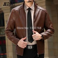 Одежда мужская одежда натуральная кожа мужской кожаный одежды кожа куртка тонкий пиджак из кожи крокодила