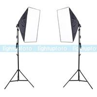 Photo Studio Daylight Bulb Softbox Light Stand Kit PSK5A free shipping