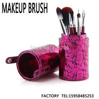 FREE SHIPPING exclusive design lightning tattoo tube brush For beginners, senior makeup brush sets, 7 the brush a set