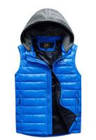 2014 new men autumn down vest winter sport hooded down vest 5 colors plus size