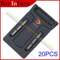 20PCS Mini MEN'S Ultra-Portable Pocket Credit Card Tools Shaver Razor U-style Mirror + Tracking Number Free shipping