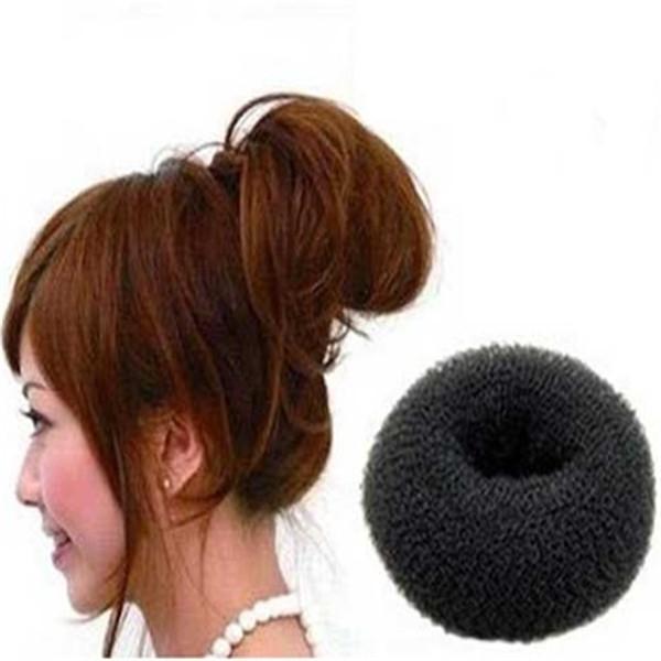 HOTEST! 12pcs/lot Retail DIY fashion Knitted Hair Bun 6cm,8cm 9.5cm Black,Brown,Beige Make your Hair More Stylish Wedding head(China (Mainland))