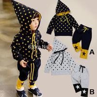 autumn & winter children's suits ! kids clothing pointed hat magic suit long-sleeve hooded sweatshirt + long pants set ELZ-T0312