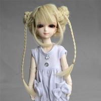 """[wamami] 47# Blond Pigtail Wig For SD DZ DOD AOD 1/6 BJD Dollfie 6-7"""""""
