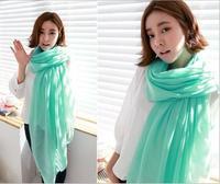 New fashion autumn winter Lady scarf Paris yarn solid color printing scarf Women Ultra big SIZE wrap Free Shipping