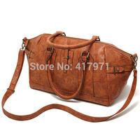 British retro oversized old brown bag handbag shoulder bag couple models