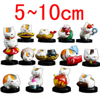 2014 Hot New Free shipping Anime Natsume Yuujinchou Cat Action Figure 13pcs Set Gift doll Toys Cosplay