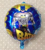 "50pcs 18"" Round Batman Helium balloons Kids Inflatable toys Birthday party decorations"