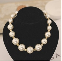 Elegant luxury pearl ball with short chain necklace A0179