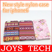 New arrive nylon Bohemia woven flower style mobile phone case for iphone 6