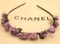 free shipping Bohemian hair band purple wind beach jewelry wholesale flower hair hoop headband hair accessories head