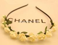 free shipping Bohemian hair band white  wind beach jewelry wholesale flower hair hoop headband hair accessories head