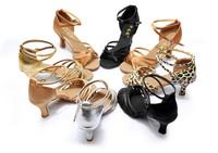 Classic Style Women's Ladies Girl's Latin Tango Ballroom Salsa Heeled Dance Shoes Dancing Shoes WZSP802 7cm Heel High
