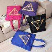 AC163 Modern Fashion Cozy Casual geometric print women shopper tote bag handbag new 2014